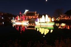 """Trädgårdar av Ljus-Zheng honom †""""en resa av upptäckten Royaltyfri Fotografi"""