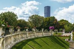 Trädgårdar av Luxembourg i Paris royaltyfri foto