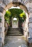 Trädgårdar av villan Vizcaya i Miami, Florida Royaltyfria Foton