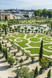 Trädgårdar för Chateaude Versailles i Paris, Frankrike Arkivbilder