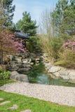 Trädgårdar för paviljongvattenpaviljong av världen Arkivfoton