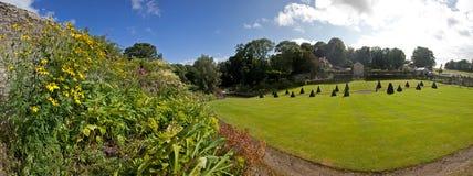 Trädgårdar för Plas Cadnant Arkivfoton