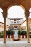 Trädgårdar i Alhambra Royaltyfria Bilder