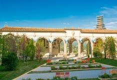 Trädgårdar i Castiglion Fiorentino Arkivfoto
