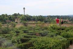 Trädgårdar i Florence arkivbilder