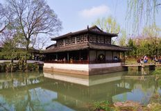 Trädgårdar i Suzhou royaltyfria foton