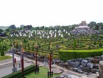 Trädgårdar i Thailand Arkivbild