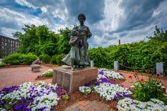 Trädgårdar och monument i Nashua, New Hampshire Arkivbild