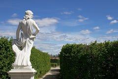 Trädgårdar på den Drottningholm slotten Royaltyfri Fotografi