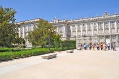Trädgårdar verkliga utvändiga Palacio Royaltyfri Foto