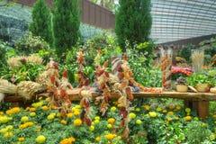 Trädgårdar vid fjärden, blommakupol: Höstskörd Royaltyfria Foton