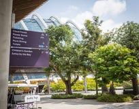 Trädgårdar vid fjärden, Singapore Royaltyfri Fotografi