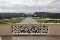 Trädgårdarna av den Schönbrunn slotten Arkivfoto
