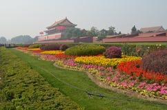 Trädgårdarna runt om slotten Royaltyfri Bild