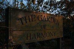 Trädgården av harmoni i Methven, södra ö, Nya Zeeland royaltyfri foto