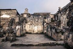 Trädgården fördärvar in av den Templo de San Jose domkyrkan, Antigua, Guatemala, Central America arkivfoton