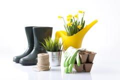 trädgårds- arbeta i trädgården springtimehjälpmedel Royaltyfria Bilder