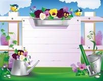 trädgårds- arbeta i trädgården springtimehjälpmedel Royaltyfri Fotografi