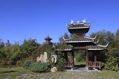 Trädgårds- arkitektur för kines Arkivfoton