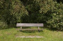 Trädgårds- bänk fotografering för bildbyråer