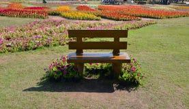 Trädgårds- bänk Arkivbild