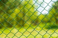 Trädgårds- bakgrund för staket för rastermetall Royaltyfria Foton