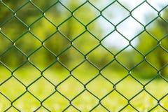 Trädgårds- bakgrund för staket för rastermetall Arkivbild