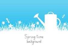 Trädgårds- bakgrund för vår stock illustrationer