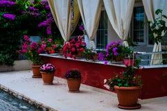 Trädgårds- balkong Arkivfoto