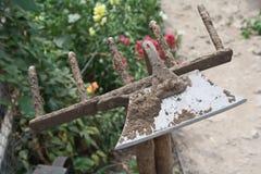 Trädgårds- bevattna för tool Arkivbild