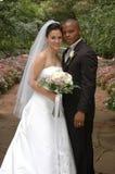 trädgårds- bröllop royaltyfria foton