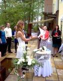 Trädgårds- bröllop för schweizare arkivfoto