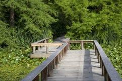 Trädgårds- bro royaltyfri fotografi