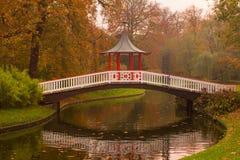 Trädgårds- bro Arkivfoton