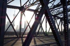 Trädgårds- bro av Shanghai Arkivfoto