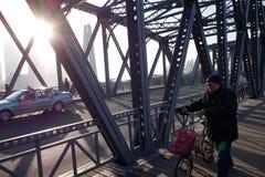 Trädgårds- bro av Shanghai Royaltyfria Bilder