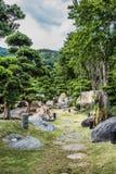 Trädgårds- Chi Lin Nunnery Kowloon Hong Kong Arkivfoto