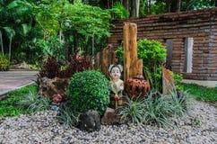 Trädgårds- design av den Thailand sawasdeen Arkivbild