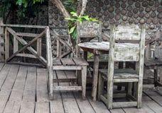 Trädgårds- dinning tabell Royaltyfria Foton