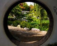 Trädgårds- fönster Royaltyfria Foton