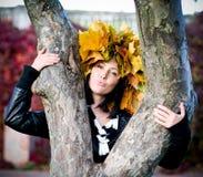 trädgårds- flicka för höst Royaltyfria Bilder