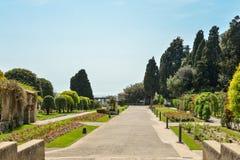 Trädgårds- Franciscan kloster royaltyfria bilder