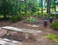 trädgårds- fristad arkivbild