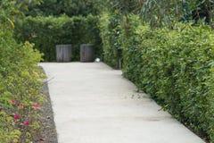 Trädgårds- gångbana royaltyfri foto