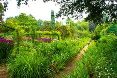 trädgårds- giverny monet s Arkivbild