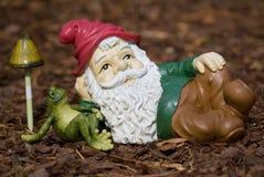 trädgårds- gnome Fotografering för Bildbyråer