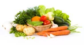 Trädgårds- grönsak över vit royaltyfri foto