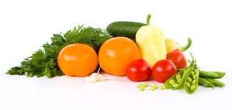 Trädgårds- grönsak över vit royaltyfria bilder