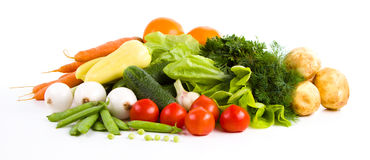 Trädgårds- grönsak som isoleras över vit royaltyfri bild