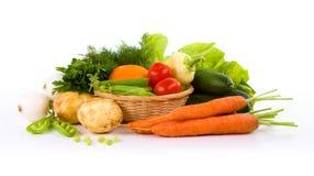 Trädgårds- grönsak som isoleras över vit royaltyfria foton